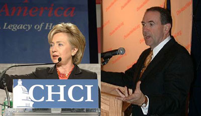 Clinton and Huckabee