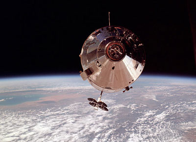 Apollo 9 in Earth orbit