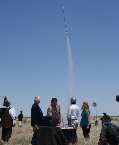 rocket launch at groundbreaking