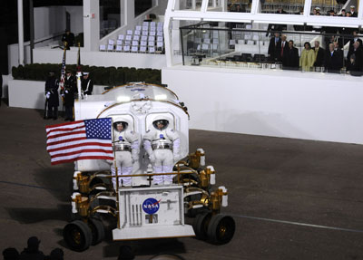 lunar rover in parade