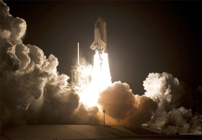 STS-130 shuttle launch