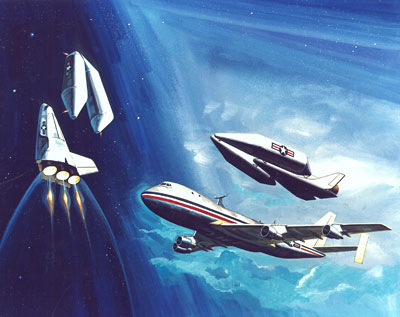 Rockwell spaceplane illustration