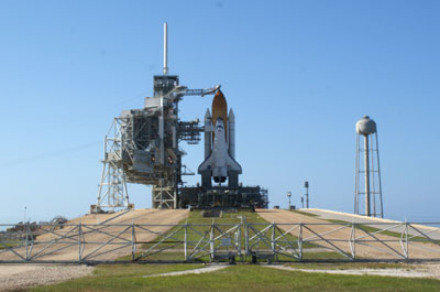 Atlantis on the pad