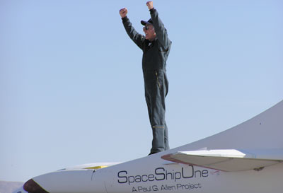Mike Melvill and SpaceShipOne