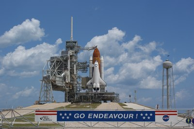 Endeavour on pad