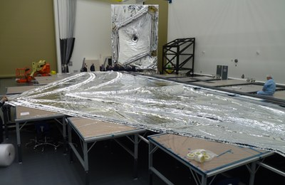 JWST sunshield layers and model