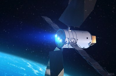 Solar electric propulsion illustration