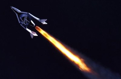 SpaceShipTwo powered flight