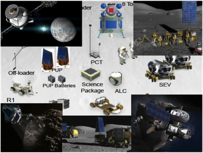 Mars mission illustrations