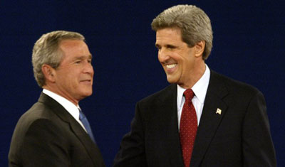 Bush and Kerry