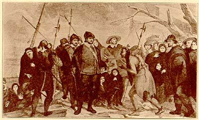 Pilgrims at Plymouth illustration