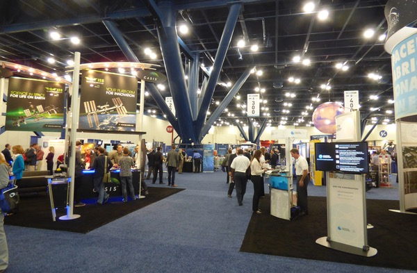 SpaceCom exhibit hall