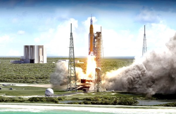 SLS launch illustration