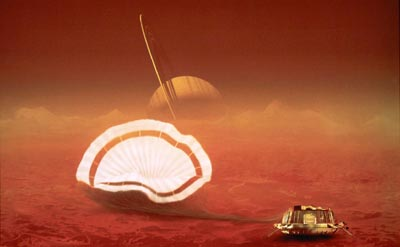 Huygens on Titan
