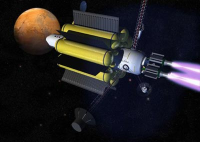 VASIMR-powered spacecraft illustration