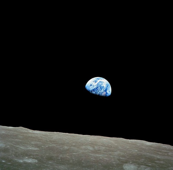When were the first pictures of earth from space taken