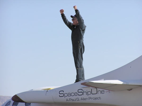 Melvill atop SpaceShipOne