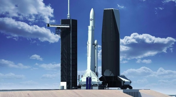 SpaceX vertical processing facility