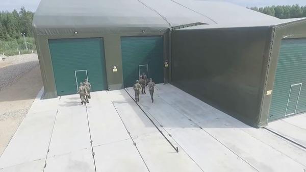 Abrigo para Peresvet visto em um vídeo do Ministério da Defesa lançado em julho de 2018.