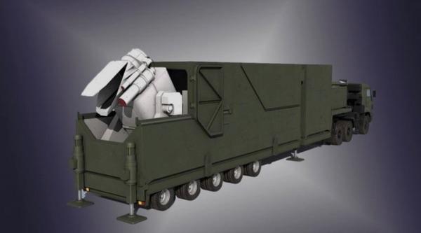 Desenho do caminhão a laser do Peresvet. (crédito: Voennoe obozrenie)