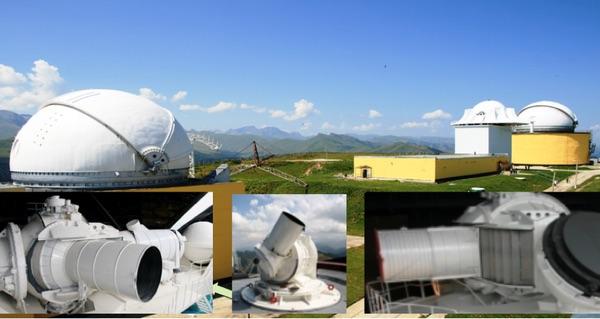 Localizador óptico a laser do Krona na montanha Chapal. (crédito: NPK SPP)