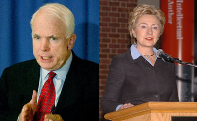 Clinton and McCain