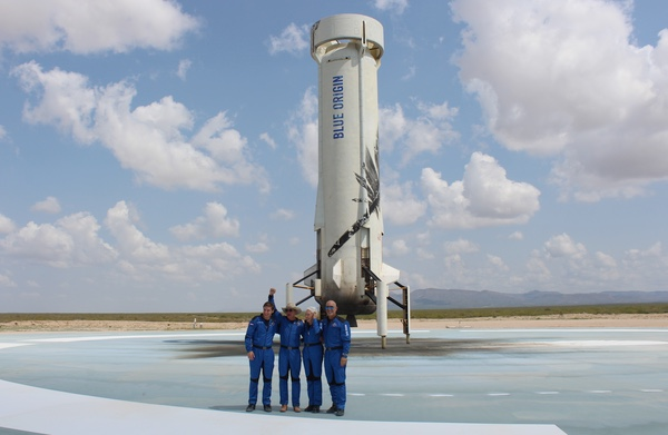 New Shepard booster and crew