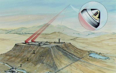 Laser launch illustration