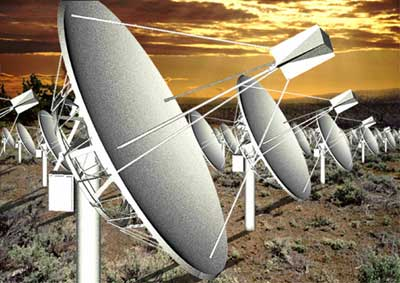Allen Telescope Array illustration