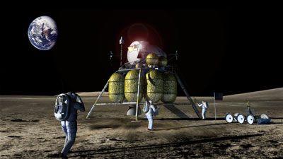 Lunar lander illustration
