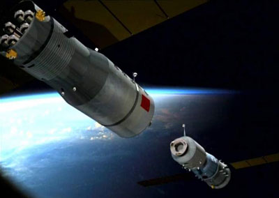 Ilustration of Shenzhou docking