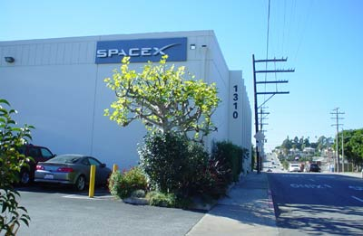 SpaceX factory exterior
