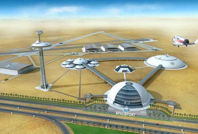 UAE spaceport illustration