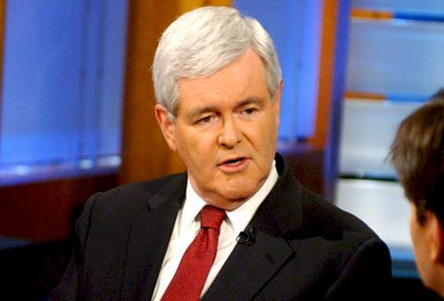 Newt Gingrich, the former Speaker of the House who is contemplating a ...