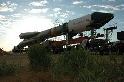 Soyuz and Progress-M rolled out to launch pad