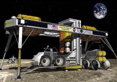 Lunar ISRU device