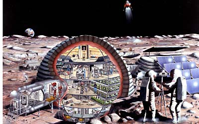 old lunar base illustration