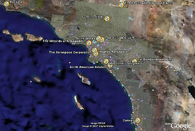 Southern California aerospace map