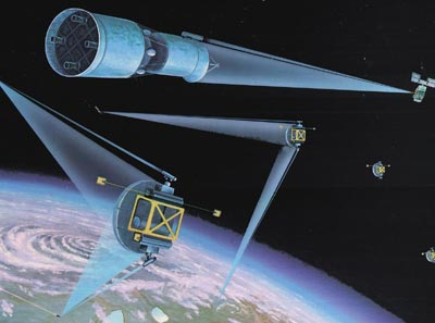 space laser weapons illustration