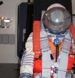 CXV interior with spacesuit